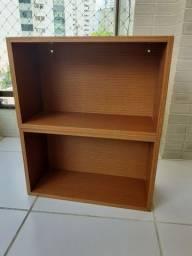 Nicho de parede madeira maciça (livros, decoração)