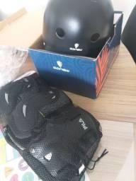 Kit proteção Fila G + Capacete Gonew M