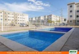 Vendo apartamento MRV Parque Chapada dos Montes, 2/4 com armários