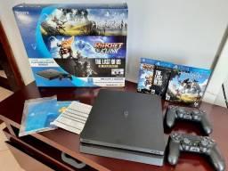 Título do anúncio: PS4 - Play Station 4 500GB 2 Controles- Seminovo poucas horas de uso - Parcelo até 12x