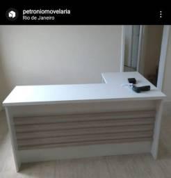 Título do anúncio: Mesa em L Ripada para recepção/consultório