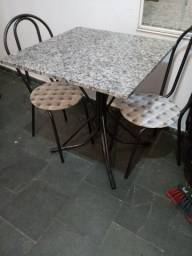 Título do anúncio: Mesa de mármore 4 cadeiras chama whats *