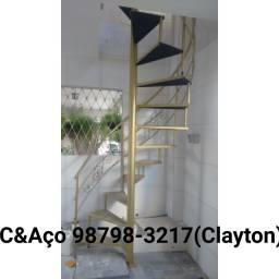 Escadas Caracol e reta em ferro