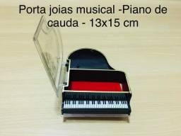 Porta Jóias em formato de piano com cauda - Anos 80