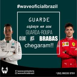 Camiseta F1 Ferrari e Mercedes.
