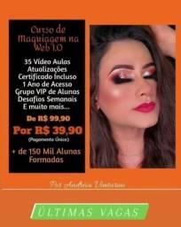 Promoção de + de 50% de desconto em um curso de maquiagem profissional