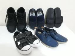 Lote calçados menino número 30