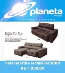 SOFÁ RETRÁTIL RECLINÁVEL 3080 // BIJOUTERIAS