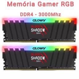 Kit Memória RAM Gamer RGB DDR4 3000 Mhz 16gb = 2x8gb