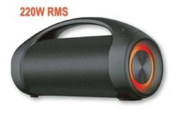 Título do anúncio: Caixa de Som Super Bazooka 2 220W BT/AUX/USB/TWS/LED **nova na caixa**