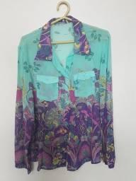Conjunto de calça e blusa fina