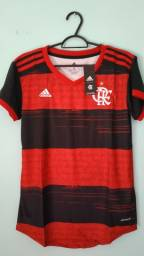 Camisa do Flamengo Rubro Negra Feminina 2020/21