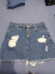 Saia jeans lindinha
