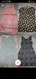 Título do anúncio: Lote vestidos, camisa e calça infantil menina