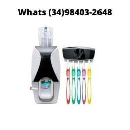 Entrega Grátis! Kit dispenser e suporte para escovas Praticidade