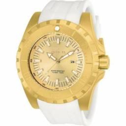 Relógio invicta 23740 masculino original banhado a ouro 18k