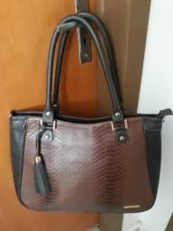Bolsa feminina de couro legítimo