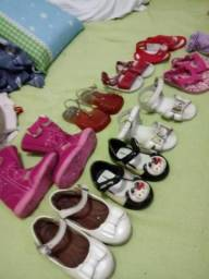 Lote 9 sapatos infantil menina