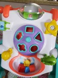Andador para bebê de empurrar com interatividade