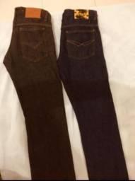 2 Calças jeans n40 por $55,00 ( masculino )