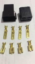 Plug conector de 4 vias