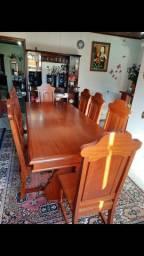 Jogo de mesa 8 cadeiras madeira cerejeira maciça