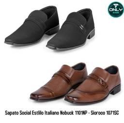 Kit 02 Sapatos Social Estilo Italiano San Lorenzo C1071- Np1101