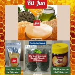 kit Jun:1 scoby Jun + 100g de chá verde Importado + 250g de mel Silvestre