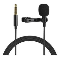Microfone Lapela P3 Com Fio Estéreo Smartphone Notebook PC Tablet