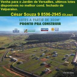 Terrenos em cond. fechado no Jardim de Versailles próximo Havan e Atacadão
