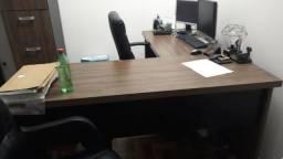 Mesa De Escritório Em L Com Gavetas Office Kappesberg
