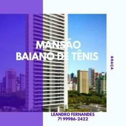 Mansão Bahiano de Tênis - Luxuoso 4 suítes na Graça, com hall social exclusivo. LF13T