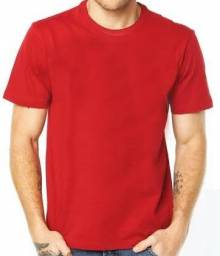 Camiseta 100% Poliéster Vermelha Lisa