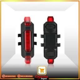 Farol Traseiro para Bicicleta Luz de Led USB Recarregável T17ft01bk20