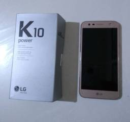 LG K10 power com manual e nota fiscal.