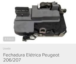 Fechadura elétrica porta Peugeot 206 / 207 Passion / SW Escapede