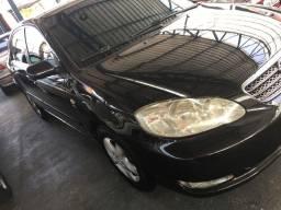 Corola 2005, automático, bancos em couro, preto