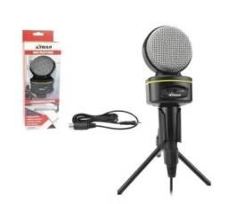 Microfone Condensador 16khz Com Tripé - Ch0804 Xtrad para youtuber live