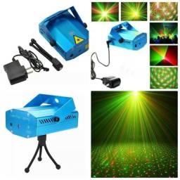 Mini projetor Laser Jogo luz festa holografico