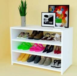Sapateira Branco 70cm Nicho Organizador Sapato Tênis Mdf