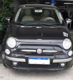 Fiat 500-Top de Linha /Automático teto Panorâmico