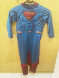 Fantasia superman infantil luxo