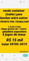 VENDO CONTAINER DE LANCHE PRONTO PRA TRABALHAR