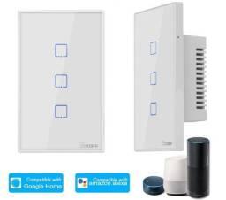 Interruptor Wifi Touch Sonoff Tx 3 Botões Alexa Google Home