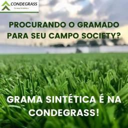 Grama Sintética para Campo Society de Altíssima Qualidade!