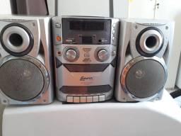 Micro system radio, toca fita e CD