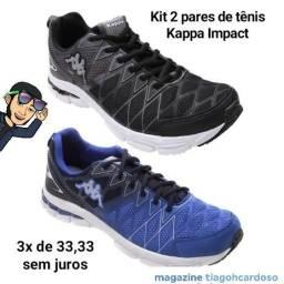 Kit 2 pares de tênis Kappa Impact