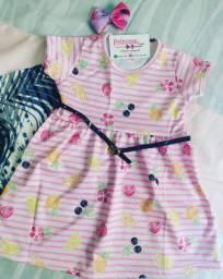 Vestidos infantis Frutinhas