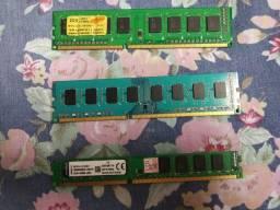 Memórias DDR3 4gb e 2gb