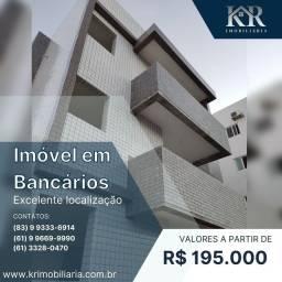 Título do anúncio: Apartamento com 2 dormitórios à venda, 66 m² por R$ 195.000,00 - Bancários - João Pessoa/P